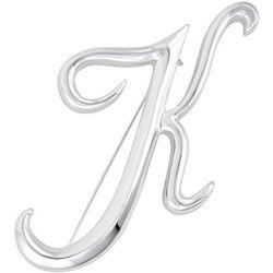 Napier Boxed Silvertone K Letter Pin