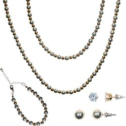 Bay Studio 5 Pc Two Tone Ball Bead Necklace Set