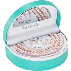 Bay Studio Rose Blush Glass Pearl 5 Pc.Gift