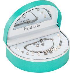 Bay Studio Tennis Bracelet & 8 Pc. Earring