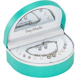 Tennis Bracelet & 8 Pc. Earring Mega Box Set
