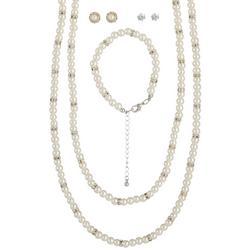 Rhinestone & Glass Pearl 5 Pc.Gift Set