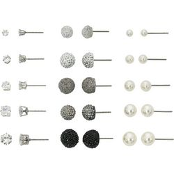 Bay Studio 15 Pc. CZ Facets & Faux Pearl Boxed Earring Set