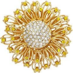 Napier Sunflower Rhinestone Pin