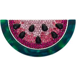 Napier Watermelon Rhinestone Pin