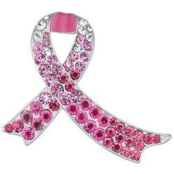 Napier Pink Ribbon Crystal Pin