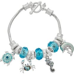Napier Boxed Sealife Charm Toggle Bracelet