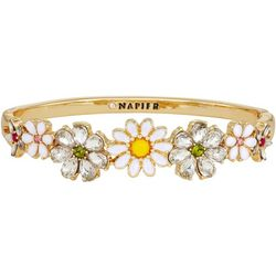 Napier Boxed Spring Multi Flower Hinged Bangle