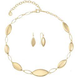 Gloria Vanderbilt Marquis Link Collar Necklace Set