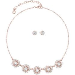 Gloria Vanderbilt Rose Starburst Necklace Set