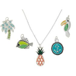 Bay Studio Coastal Themed Pendant & Necklace Set