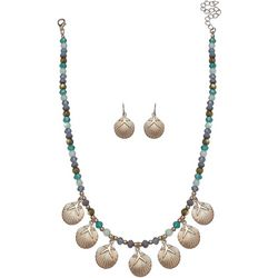 Paradise Shores Bead & Shell Frontal Necklace Set