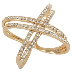 City by City 4 Row CZ Criss Cross Band Ring
