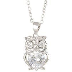 Bay Studio Cubic Zirconia Owl Necklace