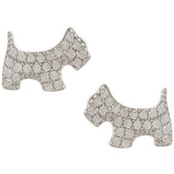 Bay Studio Cubic Zirconia Dog Earrings