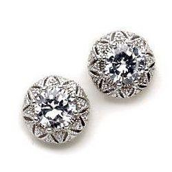 Bay Studio Vintage CZ Button Stud Earrings