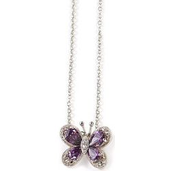 Bay Studio Purple Butterfly Pendant Necklace