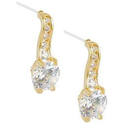 Bay Studio Cubic Zirconia Round Drop Gold Tone Earrings