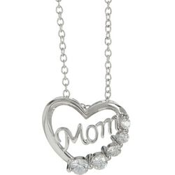 Bay Studio Heart Mom Pendant Necklace