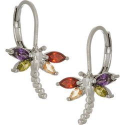 Bay Studio Multi CZ Dragonfly Leverback Earrings