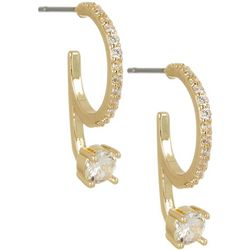 Bay Studio Gold Tone 22mm Hoop Drop Earrings