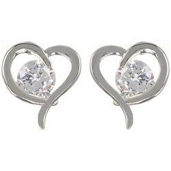 Bay Studio Boxed CZ Heart Stud Earrings