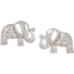 Bay Studio CZ Elephant Stud Earrings