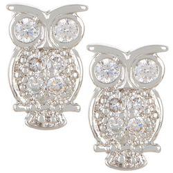 Bay Studio CZ Owl Stud Earrings