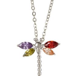 Bay Studio Multi Colored Dragonfly Necklace