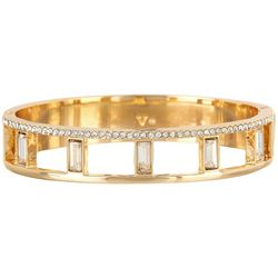 Vince Camuto Gold Tone Hinged Bracelet