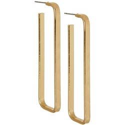 Vince Camuto Gold Tone Rectangle Post Top Earrings