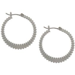Vince Camuto Ribbed Textured Small Hoop Earrings