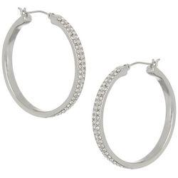 Vince Camuto 28mm Crystal Hoop Earrings