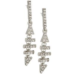 Vince Camuto Crystal Triangle Linear Earrings