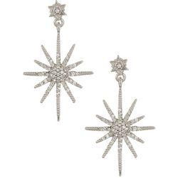 Vince Camuto Crystal Starburst Post Drop Earrings