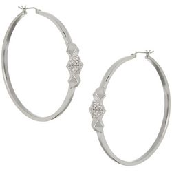 Vince Camuto 54MM Silver Tone Hoop Earrings