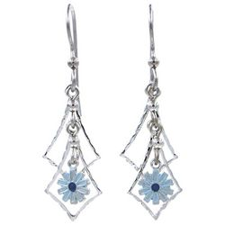 Silver Forest Silver Tone Layered Flower Drop Earrings