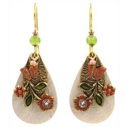 Silver Forest Spring Floral Teardrop Earrings