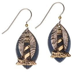 Silver Forest Light House Earrings