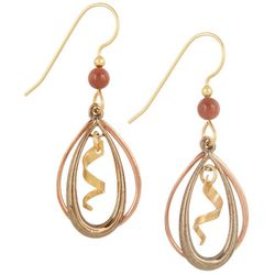 Silver Forest Double Teardrop Swirl Earrings