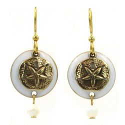 Silver Forest Layered Sand Dollar Dangle Earrings
