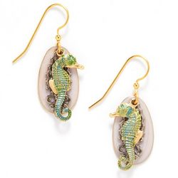 Silver Forest Seahorse Drop Earrings
