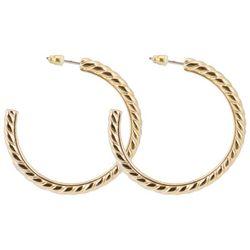 C. Wonder Gold Tone Textured Hoop Earrings