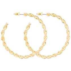 C. Wonder Gold Tone Twist Rope Braid Hoop