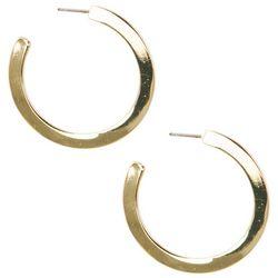 C. Wonder Gold Tone 36mm Flat Hoop Earrings
