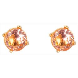 C. Wonder Gold Tone Round Glass Stud Earrings