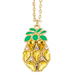 C. Wonder Gold Tone Pineapple Pendant Necklace
