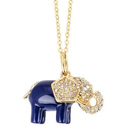 C. Wonder Gold Tone Elephant Pendant Necklace