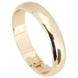 C. Wonder Gold Tone Polished Hinged Bangle Bracelet