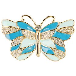C. Wonder Gold Tone Epoxy Butterfly Pin